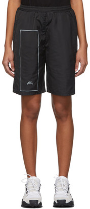A-Cold-Wall* Black Rectangle Print Shorts