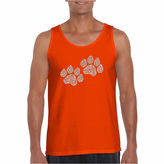 LOS ANGELES POP ART Los Angeles Pop Art Woof Paw Prints Word Art TankTop - Men's Big and Tall