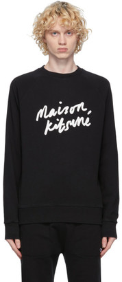 MAISON KITSUNÉ Black Handwriting Clean Sweatshirt