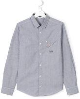 Boss Kids - striped shirt - kids - Cotton - 14 yrs