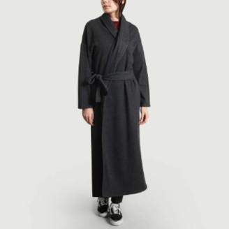 American Vintage Anthracite Gray Polyester Feel Good Coat - xs | polyester | anthracite gray