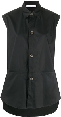 Societe Anonyme Sleeveless Button-Down Blouse