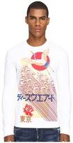DSQUARED2 Chic Dan Fit Punk Manga Gang Slong Sleeve T-Shirt