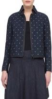 Akris Punto Women's Polka Dot Denim Jacket