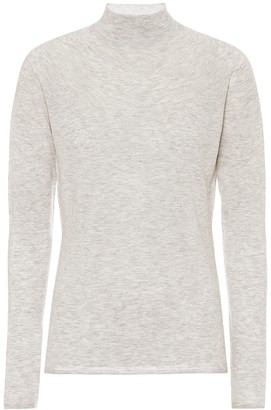 Vince High-neck stretch-wool blend top