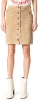 Anine Bing Button Down Suede Skirt