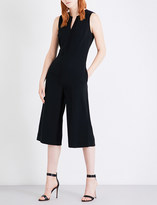 St. John Wide-leg cropped cady jumpsuit
