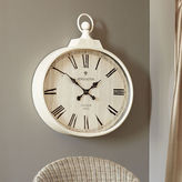 Pier 1 Imports Ivory Antiqued Wall Clock