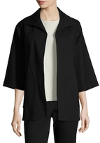 Josie Natori Stuctured Textured Jacket