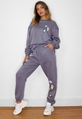 Missguided Moon Graphic Joggers