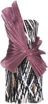 Halpern bow detail sequin dress