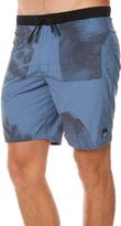 RVCA No Wave Rinsed Mens Boardshort Blue