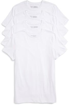 Nordstrom 4-Pack Trim Fit Supima(R) Cotton Crewneck T-Shirt