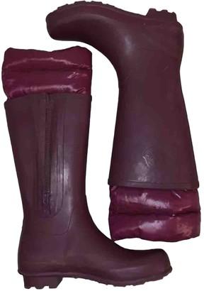Moncler Purple Rubber Boots