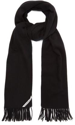 Acne Studios Canada Fringed Wool Scarf - Mens - Black