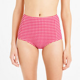 J.Crew High-waist bikini bottom in gingham seersucker