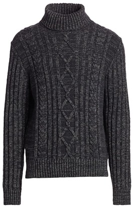 Nominee Cable-Knit Turtleneck Pullover