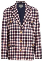 Gucci Lightweight Tweed Plaid Swing Jacket