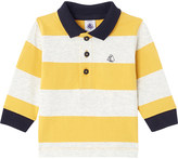 Petit Bateau Boy's striped cotton rugby polo shirt