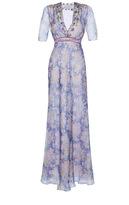 Luisa Beccaria Organdy Printed Silk Gown