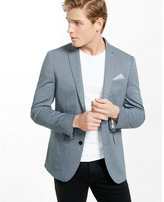 Express slim photographer heathered twill blazer