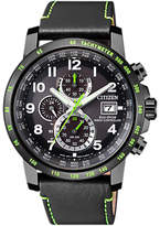 Citizen Chronograph Tachymeter Date Eco-drive Leather Strap Watch