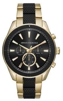Armani Exchange Enzo Stainless Steel Chronograph Bracelet Watch