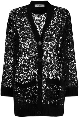 Valentino knitted lace cardigan
