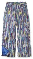 L.L. Bean Girls' Glacier Summit Waterproof Pants, Print