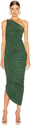 Norma Kamali Diana Gown in Forest Green | FWRD