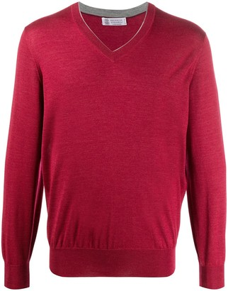 Brunello Cucinelli fine knit V-neck sweater