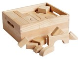 ECR4Kids 64 Pc Hardwood Unit Block Set with Carry Case