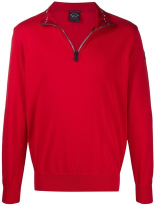 Paul & Shark Zipped Funnel-Neck Sweatshirt