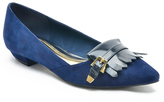 Marc Fisher Navy Talley Suede Flat