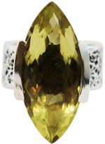 "Joan Hornig Matisse"" Lemon Quartz Cocktail Ring"