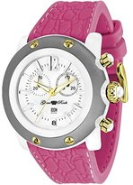 Glam Rock Miami Beach GR2510 46mm Plastic Case Pink Silicone Mineral Women's Watch