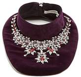 Mary Katrantzou Crystal-embellished velvet bib necklace