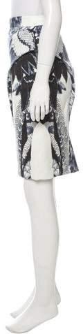 Monique Lhuillier Abstract Print Knee-Length Skirt