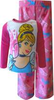 AME Sleepwear Disney Princess Cinderella Fleece Pajama Set for Little Girls