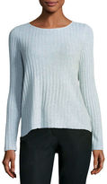 Eileen Fisher Alpaca-Blend Ribbed Box Top