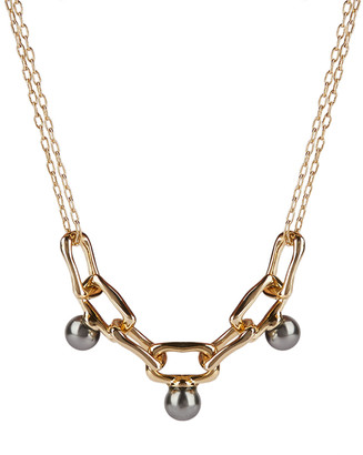 Alexis Bittar Pearl Studded Chain Link Necklace