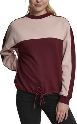 Urban Classics Women's Ladies Oversize 2-Tone Stripe Crew Sweater