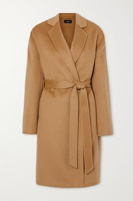 Joseph Cenda Belted Wool And Cashmere-blend Coat - Camel