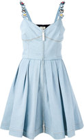 Fendi flower strappy denim dress