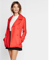 Express red twill peacoat
