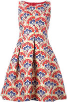 P.A.R.O.S.H. floral embroidered flared dress - women - Polyamide/Polyester/Acetate/Viscose - L
