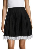 Antonio Berardi Eyelet Pleated Skirt
