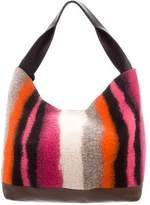 Marni Heavy Stripe Wool Hobo