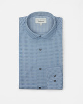 Square geo cotton shirt