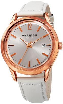 Akribos XXIV Akribos Xxix Women's Leather Watch